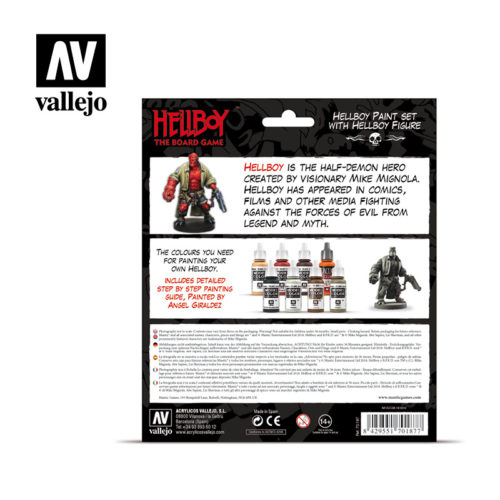 Hellboy 70187 Vallejo Mantic License Paint Set Back