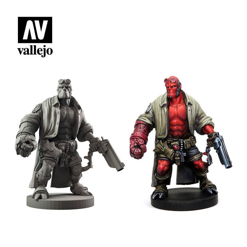 Hellboy  Mantic Games paint set by Vallejo