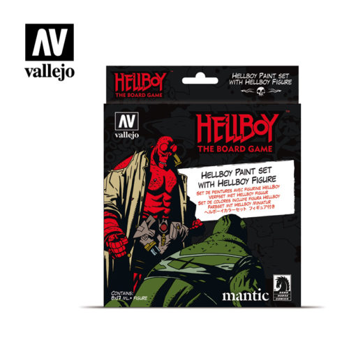 Hellboy 70187 Vallejo Mantic License Paint Set Front