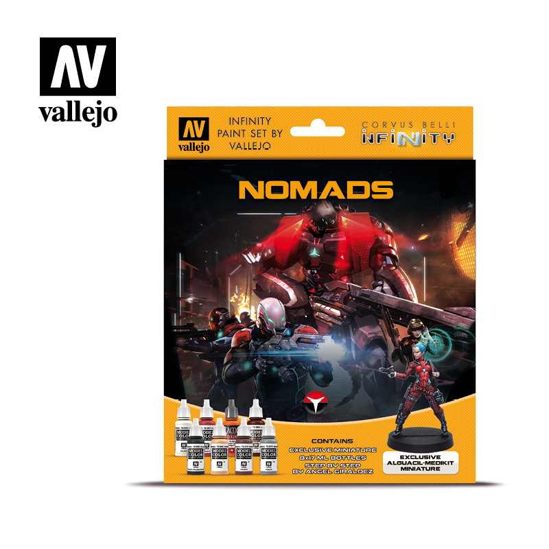 Nomads 70233 Vallejo Infinity License Paint Set Front