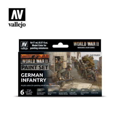 WWII Paint Set German Infantry Vallejo Wargames Flames of War 70.206 Front