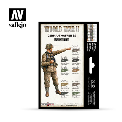 WWII Paint Set German Waffen SS Vallejo Wargames Flames of War 70.207 Back