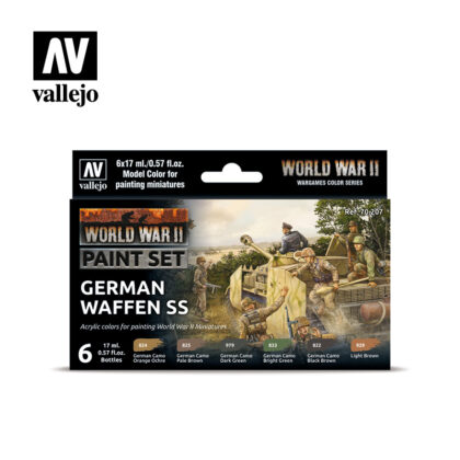 WWII Paint Set German Waffen SS Vallejo Wargames Flames of War 70.207 Front