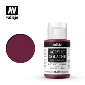 Acrylic Gouache Vallejo 04049 Red Violet 35ml