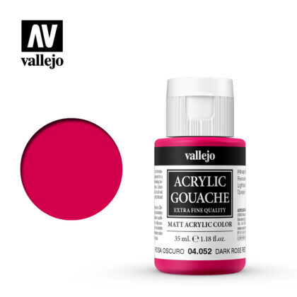 Acrylic Gouache Vallejo 04052 Dark Rose Red 35ml