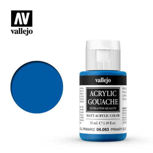 Acrylic Gouache Vallejo 04063 Primary Blue 35ml