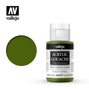 Acrylic Gouache Vallejo 04077 Olive Green 35ml