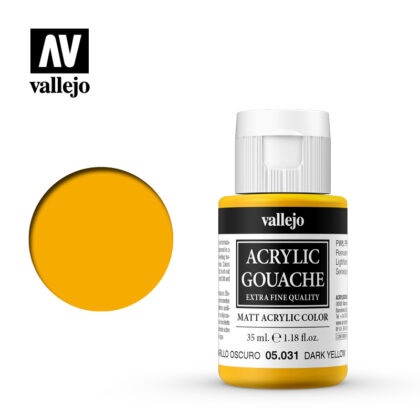 Acrylic Gouache Vallejo 05031 Dark Yellow 35ml