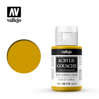 Acrylic Gouache Vallejo 06115 Gold 35ml