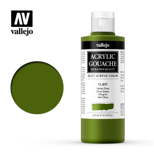Acrylic Gouache Vallejo 11077 Olive Green 200ml