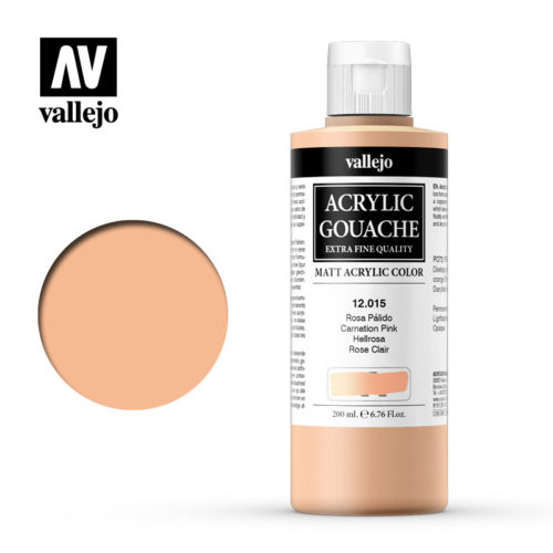 Acrylic Gouache Vallejo 12015 Carnation Pink 200ml
