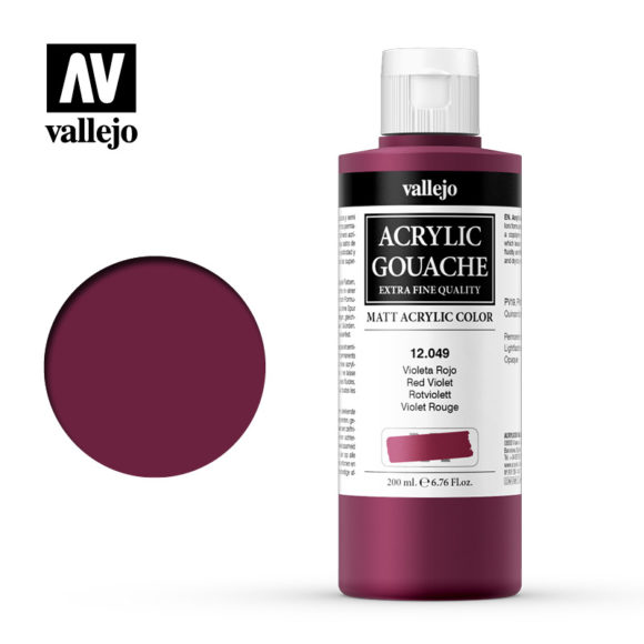 Acrylic Gouache Vallejo 12049 Red Violet 200ml