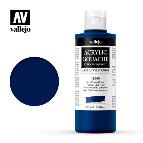 Acrylic Gouache Vallejo 12059 Prussian Blue 200ml