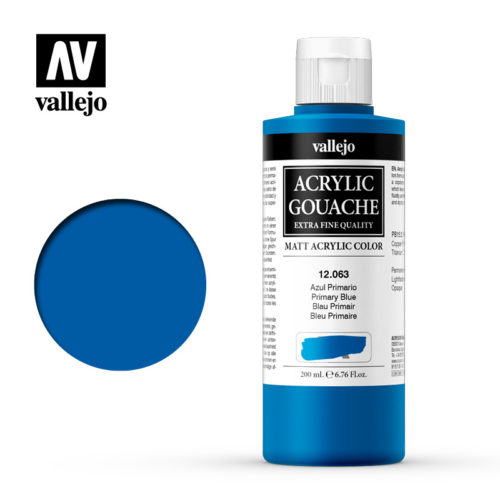 Acrylic Gouache Vallejo 12063 Primary Blue 200ml