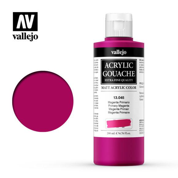 Acrylic Gouache Vallejo 13045 Primary Magenta 200ml