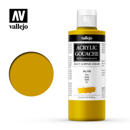 Acrylic Gouache Vallejo 14115 Gold 200ml