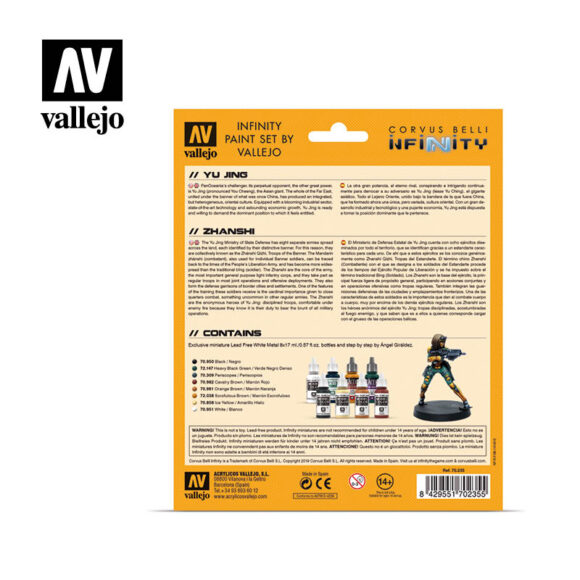 Estuche Yu Jing 70235 vallejo infinity license paint set