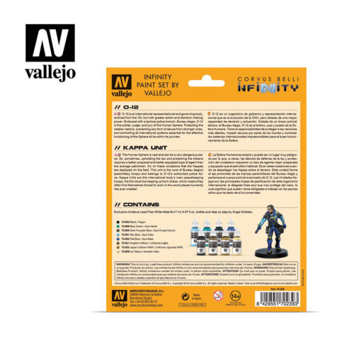 O-12 70239 vallejo infinity license paint set