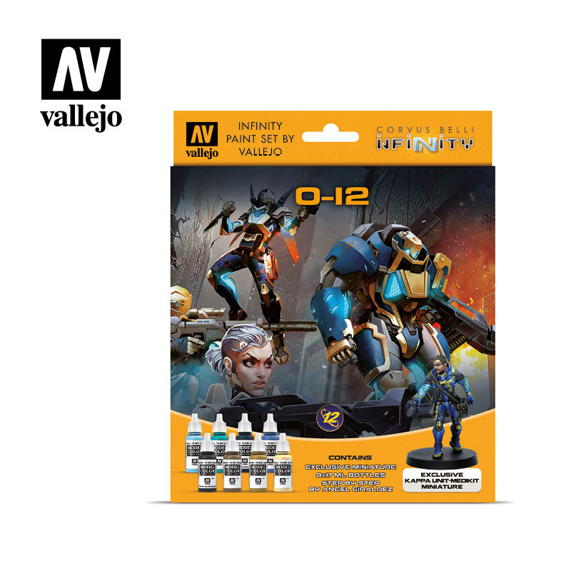 O-12 70239 Vallejo Infinity License Paint Set Front