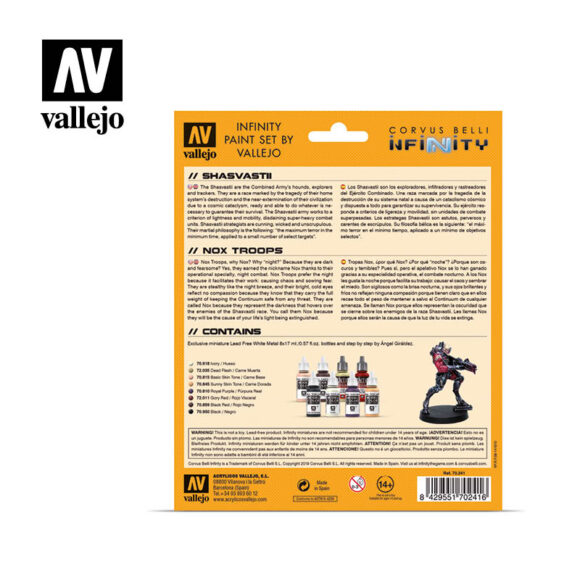 Shasvastii 70241 vallejo infinity license paint set