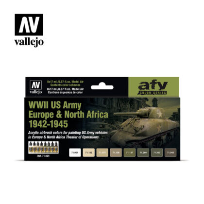 WWII US Army Europe North Africa 1942-1945 Vallejo AFV 71625