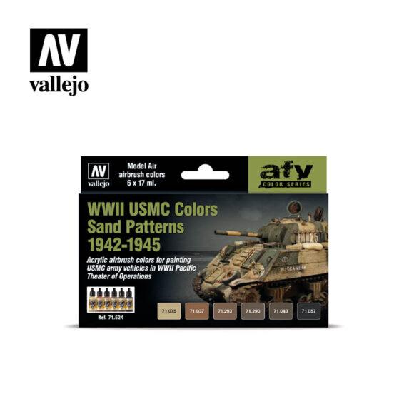 WWII USMC Colors Sand Paterns 1942-1945 Vallejo AFV 71624
