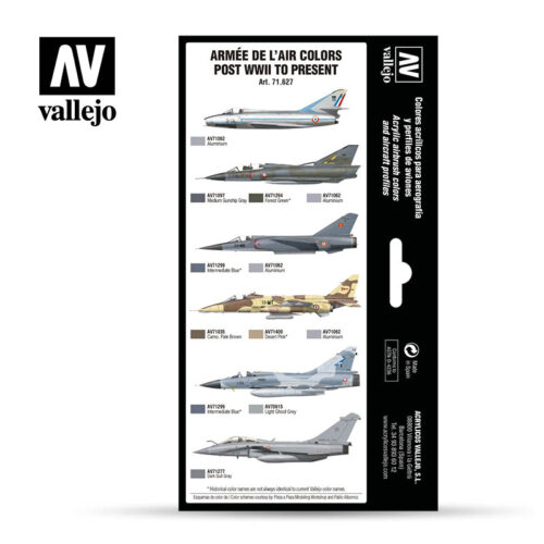 Armée de L'Air Colors Post WWI to Present Vallejo Airwar 71627 Profiles