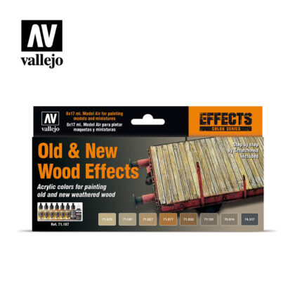 Old & New Wood Effects 71187 Vallejo Model Air Effects set