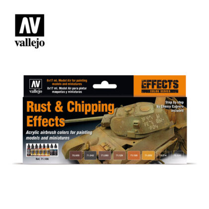 Rust and Chipping Effects 71186 Vallejo Model Air Effects set