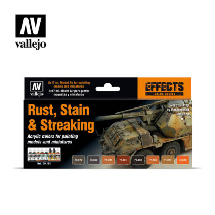Rust, Stain & Streaking 70183 Vallejo Effects set