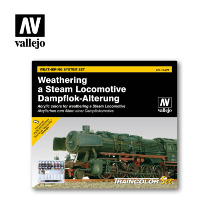 Weathering a Steam Locomotive 73.099 Vallejo Effects set