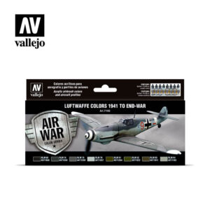 Luftwaffe colors 1941 to end-war Vallejo Airwar 71166