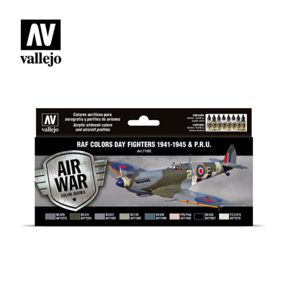 RAF colors Day Fighters 1941-1945 & P.R.U. Vallejo Air War 71162