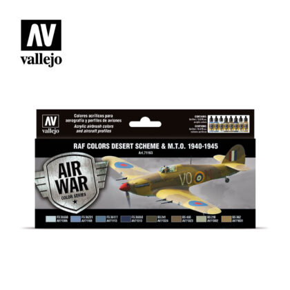 RAF colors Desert Scheme & M.T.O. 1940-1945 Vallejo Air War 71163