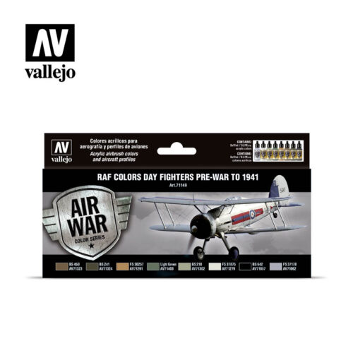 RAF Day Fighters pre-war to 1941 Vallejo Airwar 71149