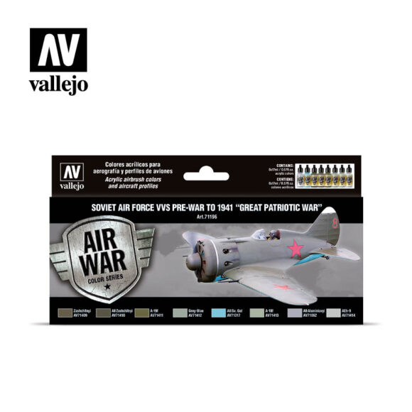 "Soviet Air Force VVS pre-war to 1941 ""Great Patriotic War"" Vallejo Air War 71196"