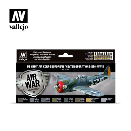 US Army Air Corps European Theater Operations (ETO) WWII Vallejo Air War 71182