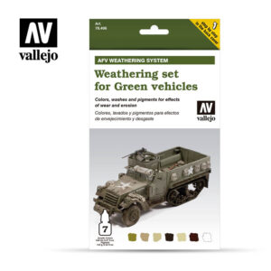 Weathering for Green vehicles Vallejo AFV 78406