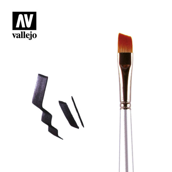 Pincel angular sesgado Vallejo PM04