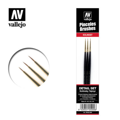 Brush Kolinsty Tajmir Vallejo Detail Set RK25.999