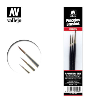 Pincel Kolinsty Tajmir Vallejo Painter Set RK25.998