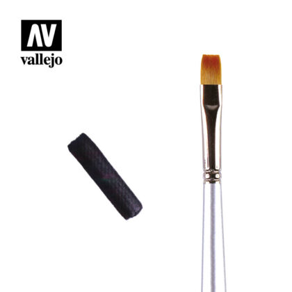 Flat rectangular brush Vallejo PM05
