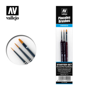 Brush Synthetic Round Flat Vallejo Starter Set P15.999