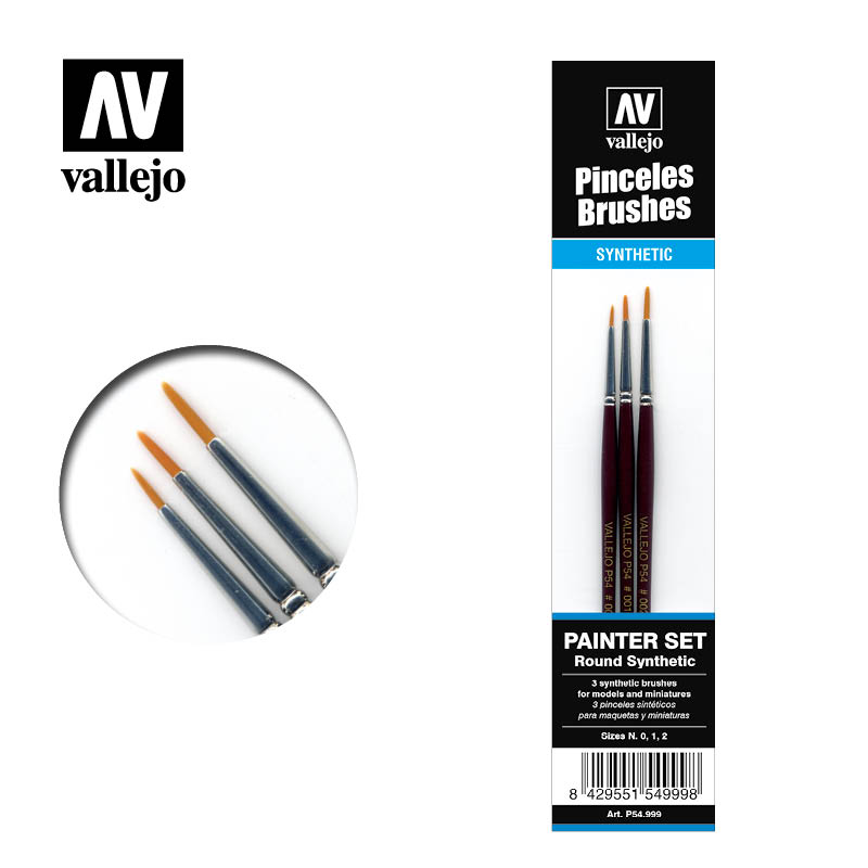 Pincel Sintético Redondo Vallejo Painter Set P54.999