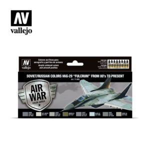 "Soviet/Russian colors MiG-29 ""Fulcrum"" from 80's to present Vallejo Airwar 71605"