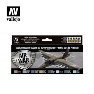 "Soviet/Russian colors Su-25/39 ""Frogfoot"" from 80's to present Vallejo Air War 71603"