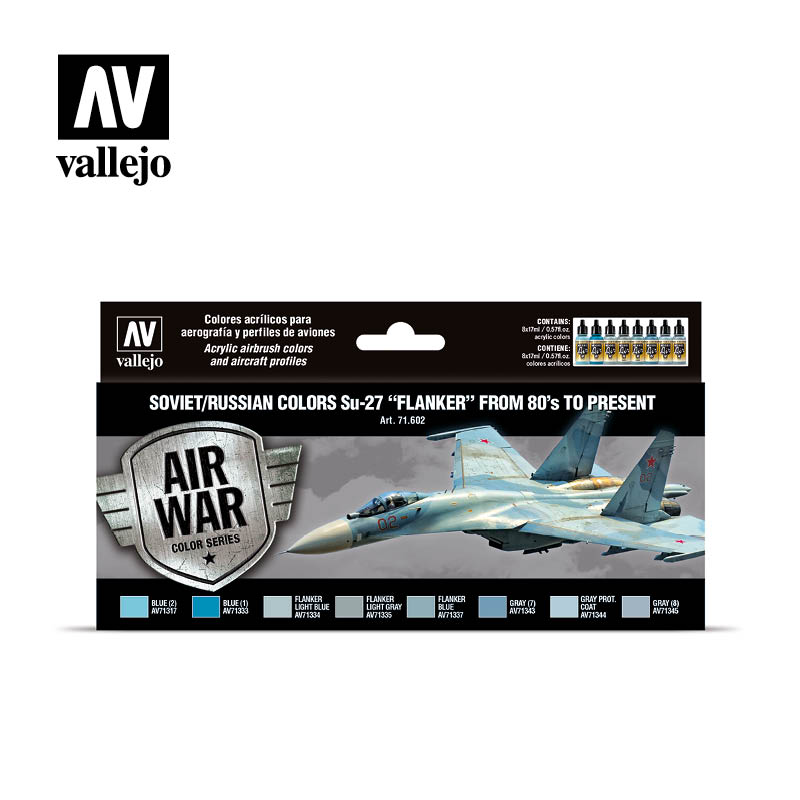 """Soviet/Russian colors Su-27 """"Flanker"""" from 80's to present Vallejo Airwar 71602"""