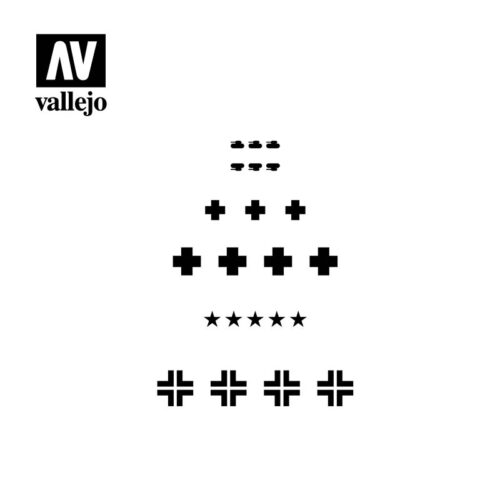 assorted german WWII tank marks vallejo hobby stencil ST-AFV001