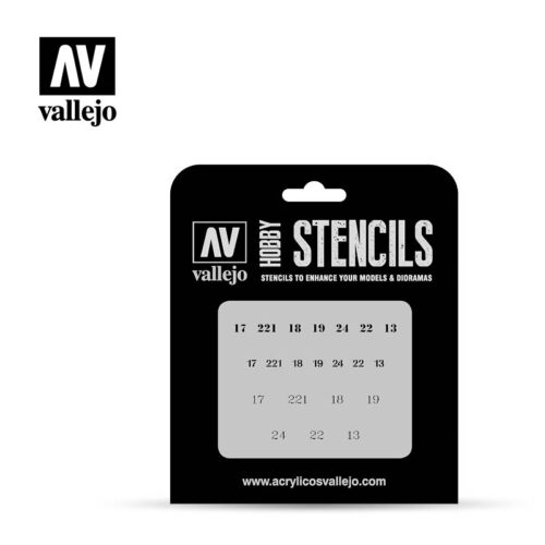 soviet numbers WWII vallejo hobby stencil ST-AFV003
