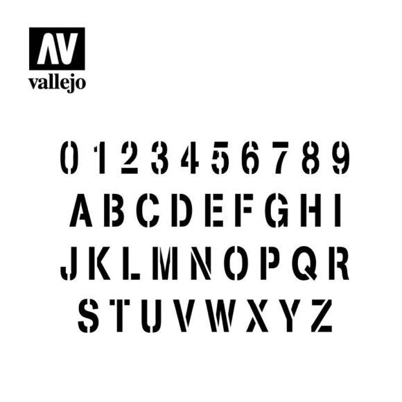 stamp font vallejo hobby stencil ST-LET002